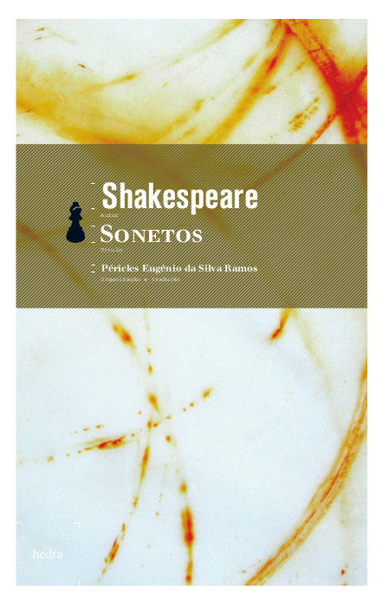 Sonetos (William Shakespeare. Editora Hedra) [POE005020]